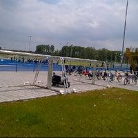 Photo taken at Bijlmer Sportpark by Ibrahim on 5/19/2012