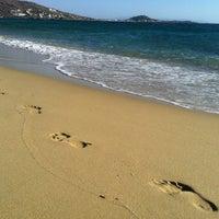 Photo taken at Plaka Beach by Alex S. on 8/31/2012