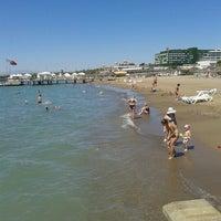 Photo taken at Voyage Beach by Dilara A. on 8/31/2012