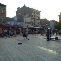 Photo taken at Trg Slobode by Kristina B. on 6/19/2012