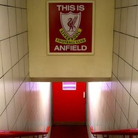 Photo taken at Anfield by Nor A. on 2/24/2012