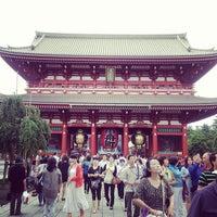 Photo taken at Hozomon Gate by Takumi Y. on 7/21/2012