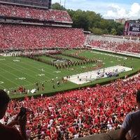 Photo taken at Sanford Stadium by Carly B. on 9/1/2012