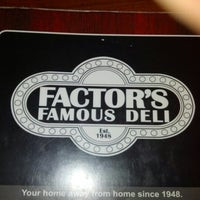 Photo taken at Factor's Famous Deli by vincent i. on 7/13/2012