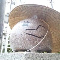 Photo taken at ももねこ様像 by Tsukune つ. on 8/31/2012