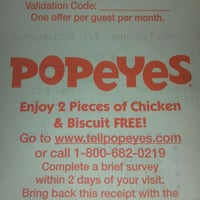 Photo taken at Popeye's by Matt B. on 2/10/2012