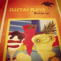 Photo taken at Restaurante Illetas Playa by Natalia B. on 8/17/2012