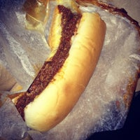Photo taken at JJ's Hot Dog Truck by Lauren B. on 3/14/2012