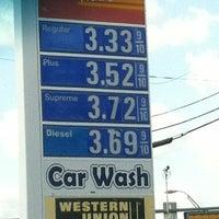 Photo taken at Exxon by Jojo W. on 7/14/2012