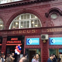 Photo taken at Oxford Circus London Underground Station by Marcelo A. on 8/7/2012