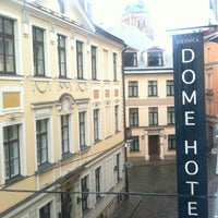 Photo taken at Dome Hotel & Spa Riga by Eduards T. on 6/24/2012