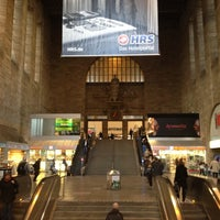 Photo taken at Stuttgart Hauptbahnhof by Jessica B. on 4/12/2012