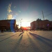 Photo taken at Площадь Ленина by A T. on 3/6/2012