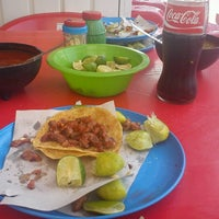 Photo taken at Tacos El Guero by Rayo E. on 8/3/2012