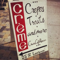 Photo taken at Crème Cafe by Katie K. on 3/25/2012