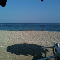 Photo taken at Spiaggia Di Fondachello by Roberta on 8/20/2012