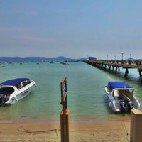 Photo taken at Chalong Bay Pier by Khananat T. on 2/18/2012