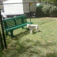 Photo taken at Lenox Hills Puppy Path by 《《Lamont》》 on 3/24/2012