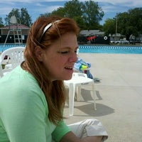 Photo taken at Tuhey Pool by Angela G. on 5/30/2012