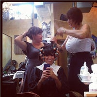 Photo taken at Christina Sanchez Hair Design @ gods&heros salon by Christina on 8/23/2012