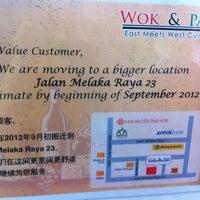 Photo taken at Wok And Pan by David L. on 8/30/2012