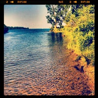 Photo taken at Belle Isle Hipster Beach by Jonathan on 6/15/2012