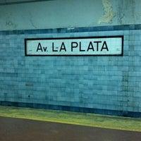 Photo taken at Estación Av. La Plata [Línea E] by Matuteen on 7/23/2012