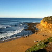 Photo taken at Bells Beach by Sin on 7/6/2012