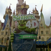Photo taken at Shrek 4-D Adventure by BLANC on 2/3/2012