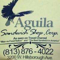 Photo taken at Aguila Sandwich Shop by Jeremy C. on 8/22/2012