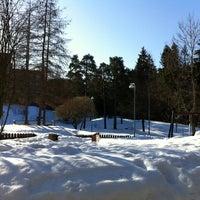Photo taken at Leikkipuisto Sanna by Salla on 3/4/2012