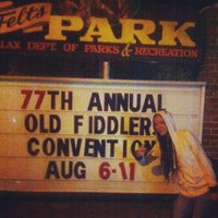 Photo taken at Galax Old Time Fiddlers Convention by Sejika J. on 8/12/2012