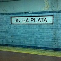 Photo taken at Estación Av. La Plata [Línea E] by Matuteen on 7/27/2012