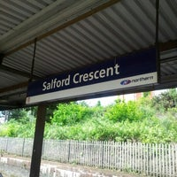 Photo taken at Salford Crescent Railway Station (SLD) by Gavin M. on 6/12/2012