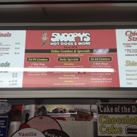 Photo taken at Snoopy's Hot Dogs & More by Joshua on 6/24/2012