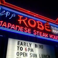 Photo taken at Kobe Japanese Steakhouse & Sushi Bar by Steven N. on 7/12/2012
