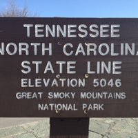 Photo taken at North Carolina / Tennessee State Line by Ryan G. on 4/28/2012