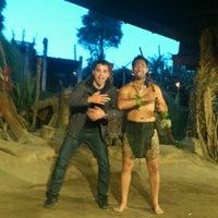 Photo taken at Mitai Maori Village by Ahmet K. on 3/5/2012