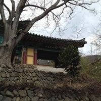 Photo taken at 청곡사 (靑谷寺) by Stonian K. on 3/3/2012