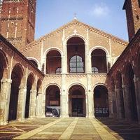 Photo taken at Basilica di Sant'Ambrogio by Chiara C. on 9/9/2012