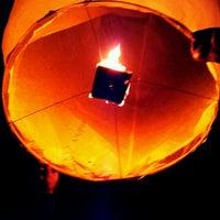 Photo taken at Shifen Sky Lantern Square by Rodrigo G. on 2/4/2012