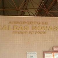 Photo taken at Aeroporto de Caldas Novas (CLV) by Monica F. on 7/26/2012