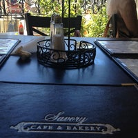 Photo taken at Savory Cafe & Bakery by Marina R. on 9/2/2012