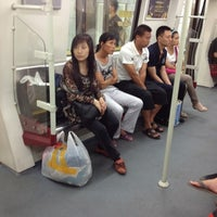 Photo taken at Baiyun Culture Square Metro Station by Yura S. on 6/8/2012