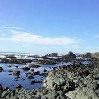 Photo taken at Gazos Creek Beach by Kai on 2/2/2012