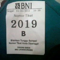 Photo taken at Bank BNI by Fuadi V. on 5/1/2012