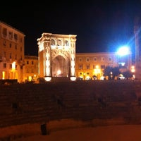 Photo taken at Piazza Sant'Oronzo by Evy A. on 6/3/2012
