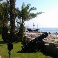 Photo taken at Pirates Beach Club by Anastasia P. on 9/4/2012