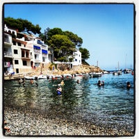 Photo taken at Sa Tuna Beach by Josep P. on 8/19/2012