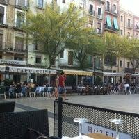 Photo taken at Plaça de la Font by Petr K. on 7/10/2012
